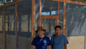 Eagle Scount Applicant builds aviary
